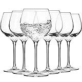 Krosno Gin und Tonic Glas Ballongläser Wassergläser | 6-teiliges Set | 570 ml | Harmony Kollektion | Perfekt für Zuhause, Restaurants und für Partys und Veranstaltungen | Spülmaschinenfest