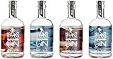 Breaks Gin Sonderedition 4 Elemente - 4er Set - Feuer - Wasser - Erde - Luft - *Limited Edition* - Handmade - London Dry Gin - 4 x 0,5 L