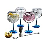 Luminarc Fiesta Combinados Color Gin Cocktailgläser-Set (inkl.  Löffel und Messbecher), 6er Pack