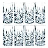 Nachtmann Noblesse Longdrinkglas Set, 8er Set, Wasserglas, Saftglas, Kristallglas, H 14.8 cm, 375 ml