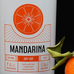 Der Mandarina Dry Gin im Review auf ginvasion.de
