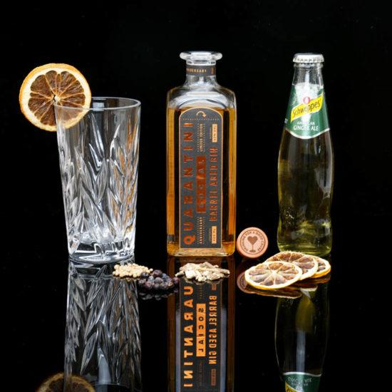 Quarantini Social Barrel Aged Gin